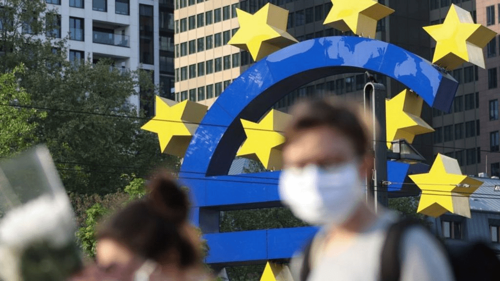 Eurozone Growth Forecasts Lowered as Virus Restrictions Drag