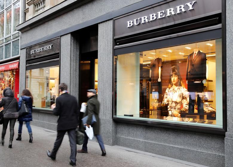 burberry shares dip