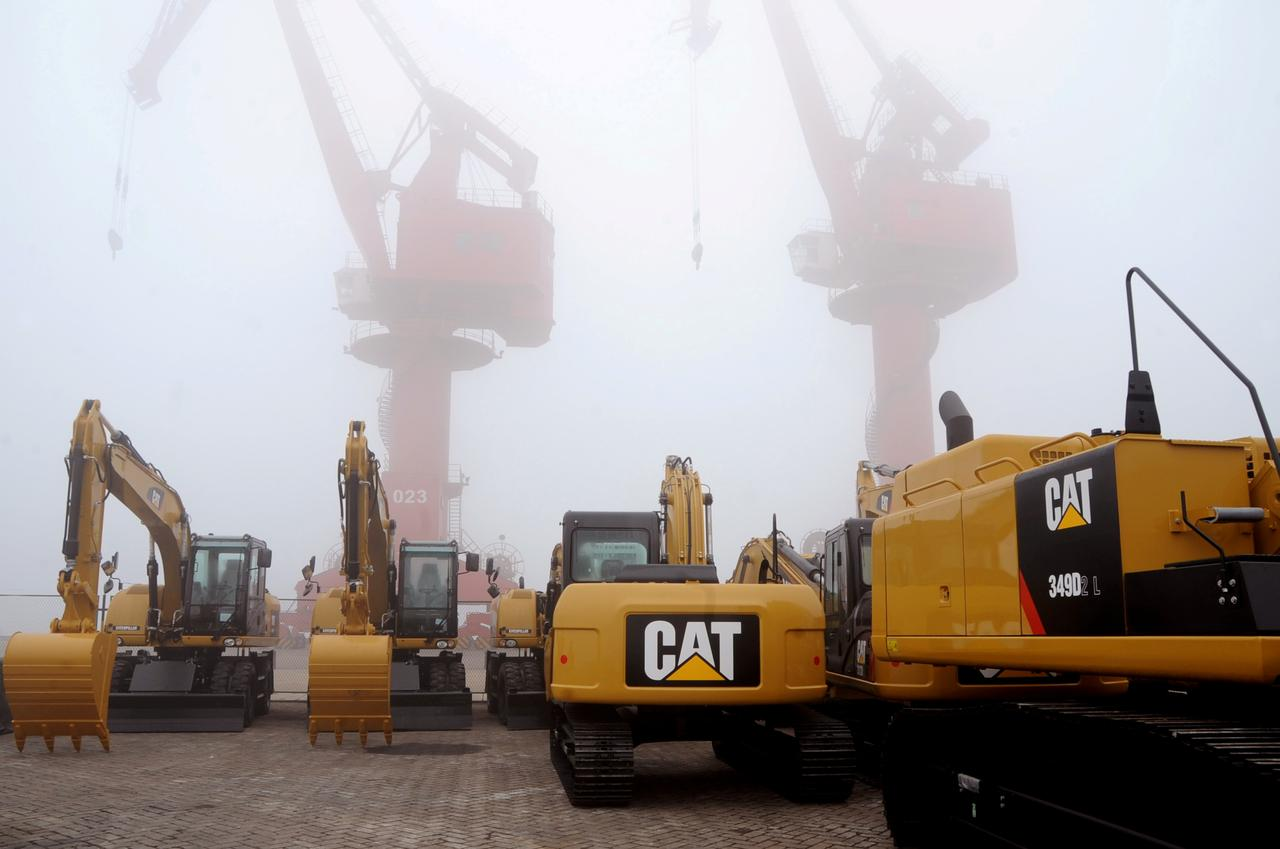 caterpillar shares drop