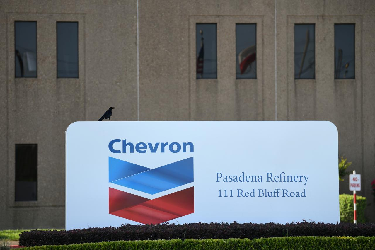 chevron shares decline