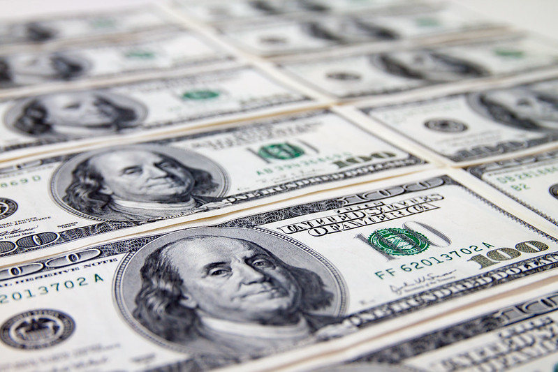 us dollar slips inflation rate the highest