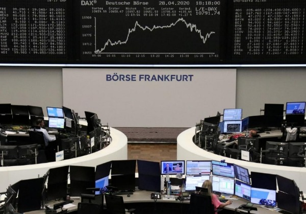 The German share price index DAX graph is pictured at the stock exchange in Frankfurt, Germany, July 24, 2020. REUTERS/Staff
