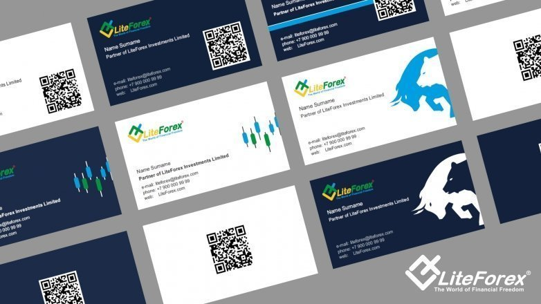 New business cards for LiteForex's partners