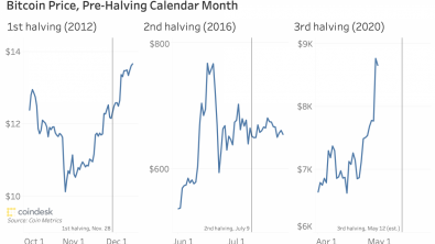 Bitcoin Price May Drop After Halving, Historical Data Shows