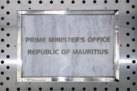 Inside one of the Republic of Mauritius' governmental buildings