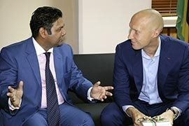 Andrey Dashin and Ravi Yerrigadoo, Attorney General of Republic of Mauritius