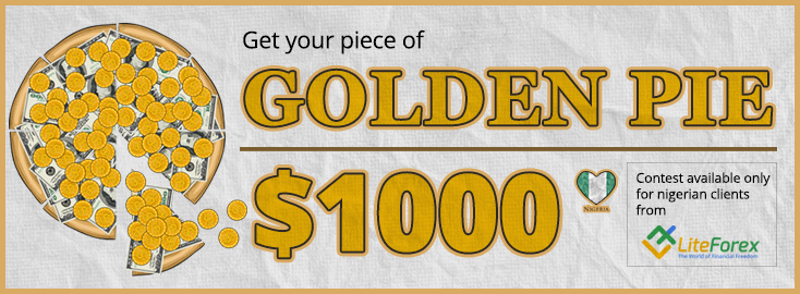 LiteForex launches Golden Pie contest for clients from Nigeria!